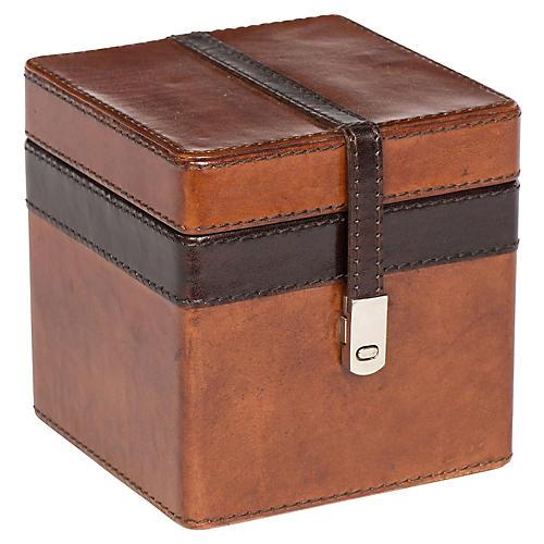 Buffalo Stash Box, Tan/Chocolate