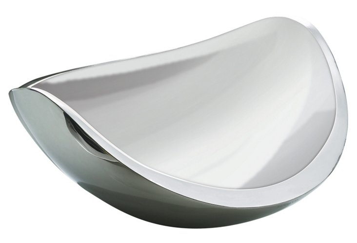 Stainless Ninna Nanna Fruit Bowl, Silver