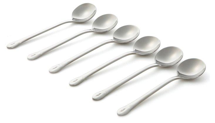 S/6 Moka Spoons, Silver