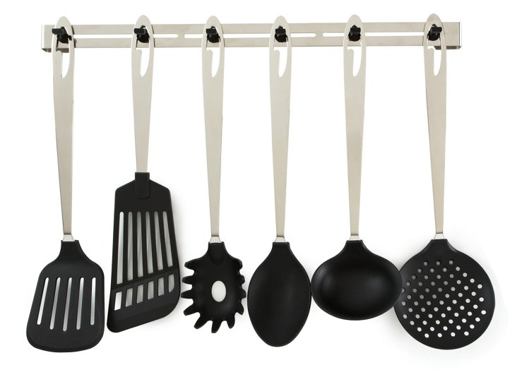 6-Piece Nylon Kitchen Set w/ Rack