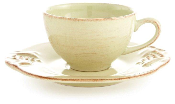 Espresso Cup & Saucer, Green