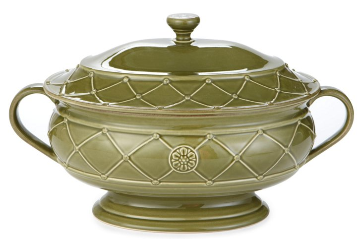 Soup Tureen, Olive