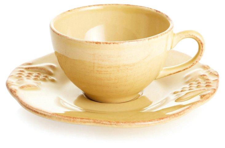Espresso Cup & Saucer, Gold