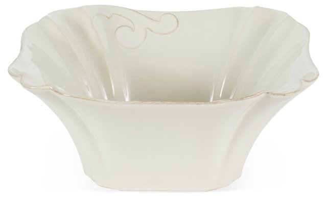 Square Fluted Serving Bowl