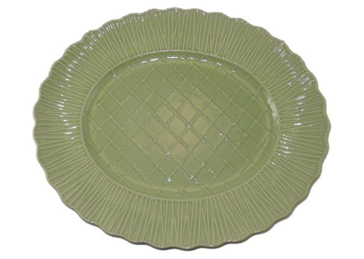 Oval Platter, Green