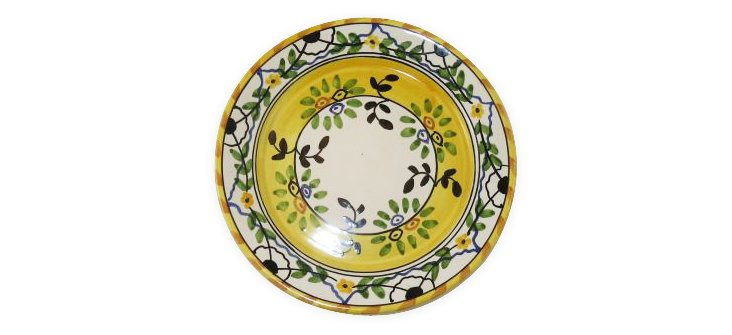 Salad Plate, Yellow Leaves
