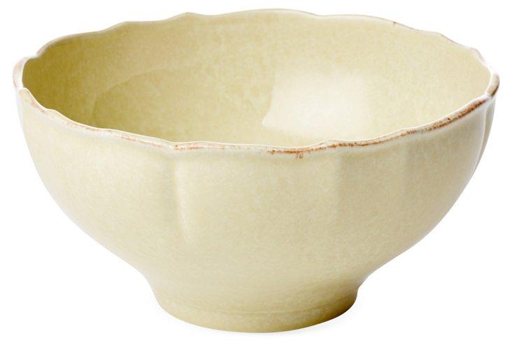 Large Serving Bowl, Buttercream