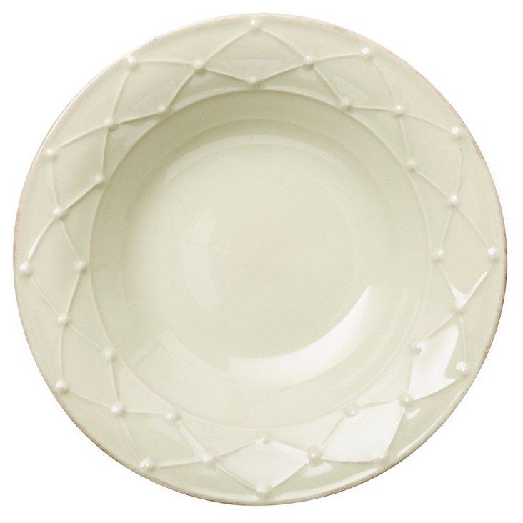 S/4 Rimmed Soup Bowls, Sage