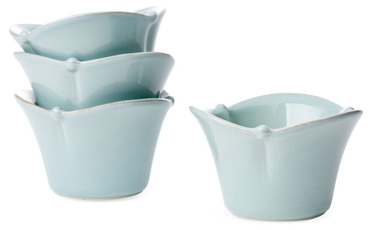 S/4 Dipping Bowls, Blue
