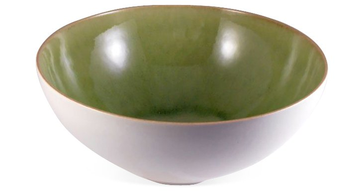 Large Serving Bowl, Green