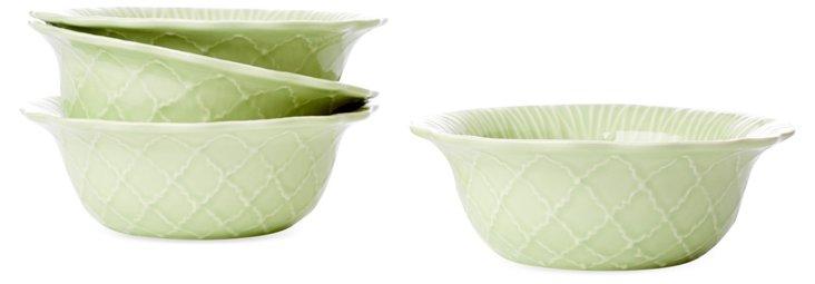S/4 Soup Bowls, Green