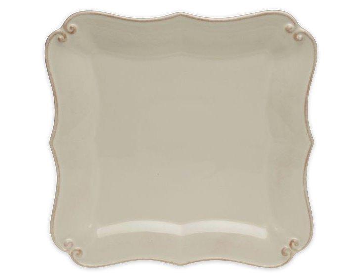 S/4 Square Bread & Butter Plates, Cream