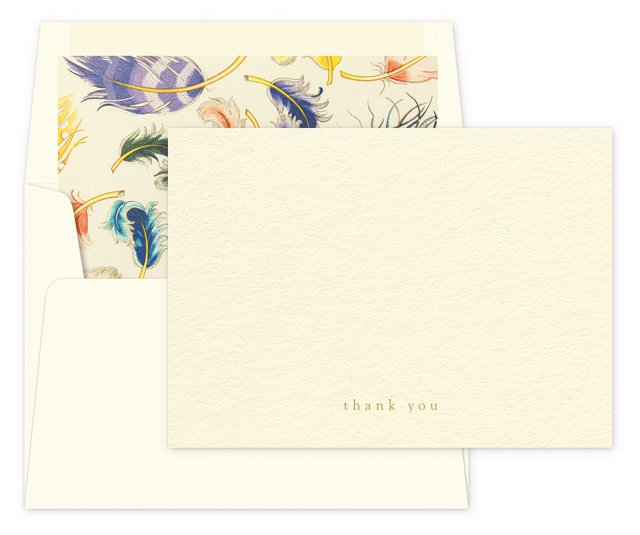 """S/12 Lush """"Thank You"""" Note Cards"""