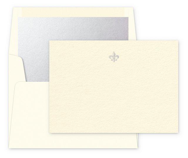 S/12 Note Cards, Vive le Roi