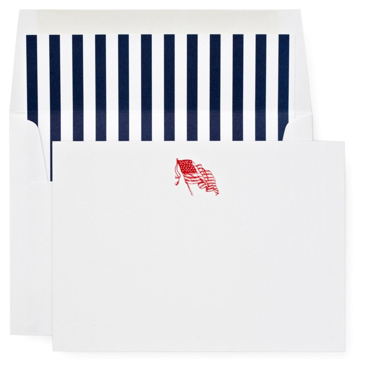 S/12 Note Cards, Old Glory