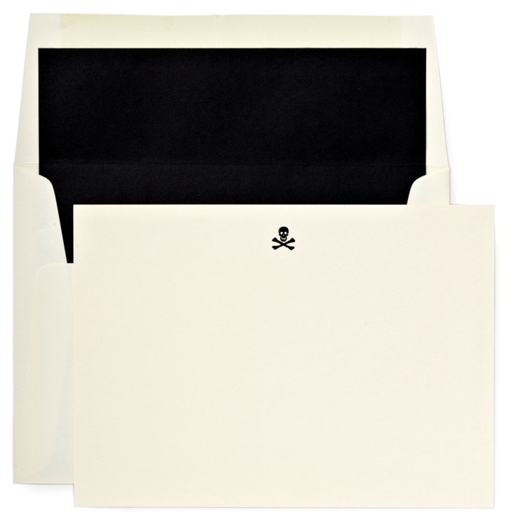 S/12 Jolly Roger Note Cards & Envelopes