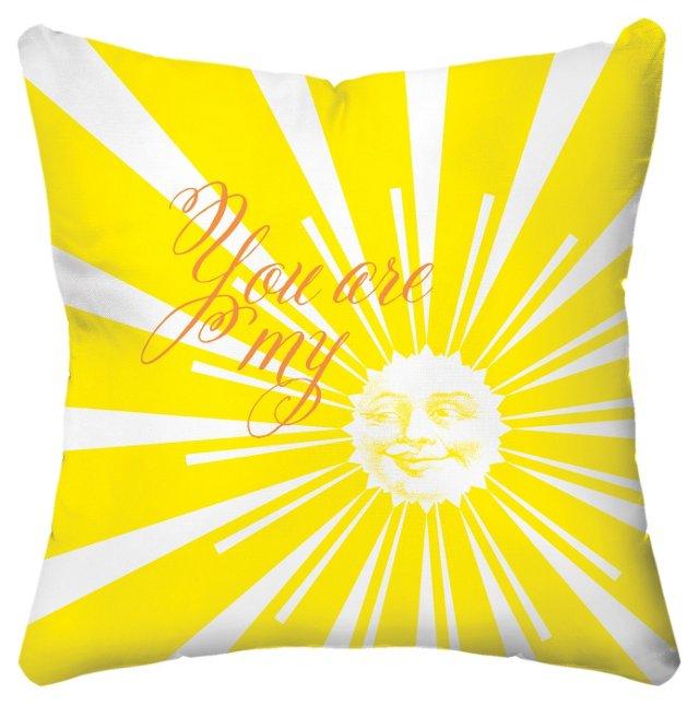 Sunshine 18x18 Pillow, Yellow