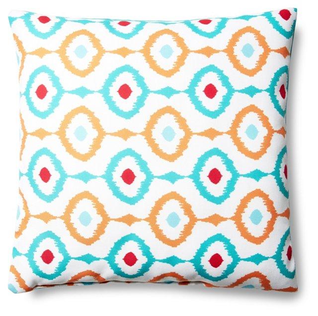 Ikat Tropical 18x18 Pillow, Multi