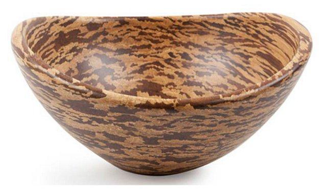 Crushed Bamboo Swoop Bowl, Medium