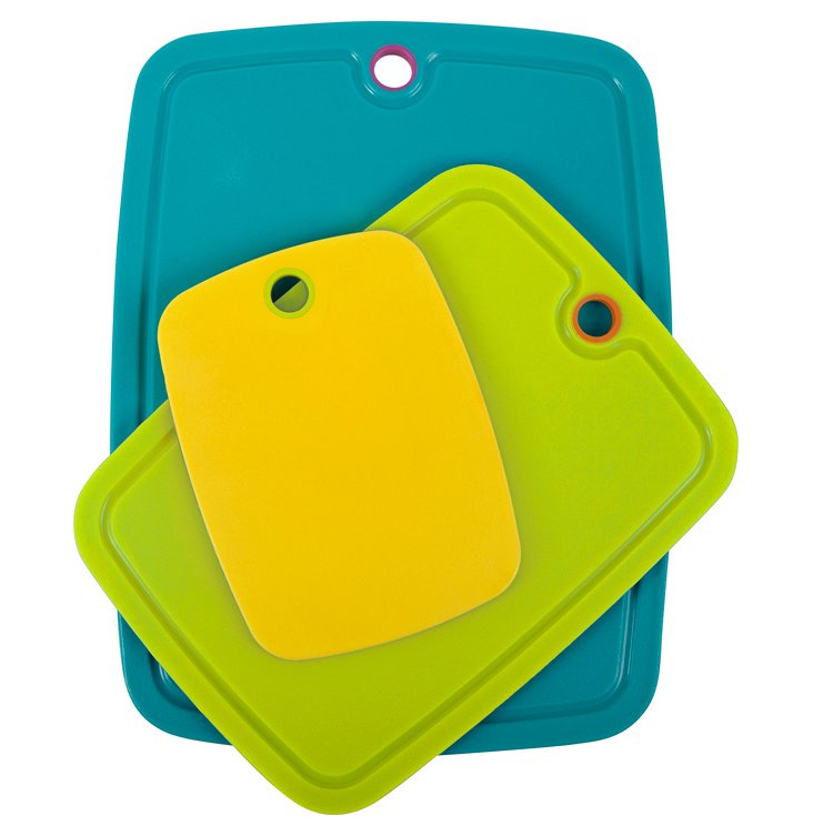 S/3 Non-Slip Boards, Yellow/Lime/Teal