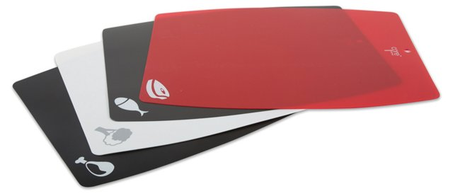 S/4 Large Flexible Cutting Sheets, Red