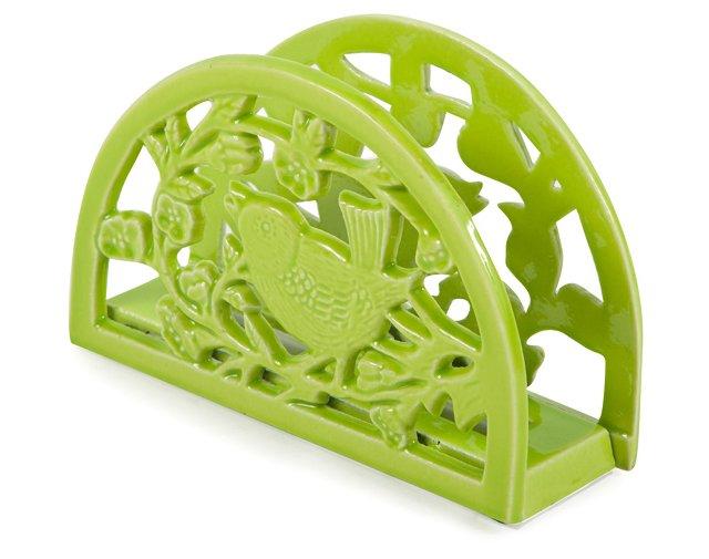 Cast Iron Napkin Holder, Lime
