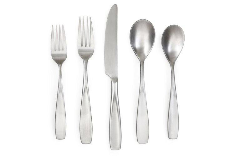 20-Pc Aspen Satin Flatware Set