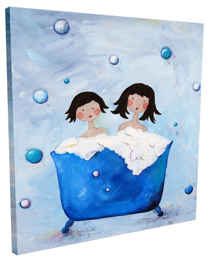 Double Bubble - Brunette, Canvas