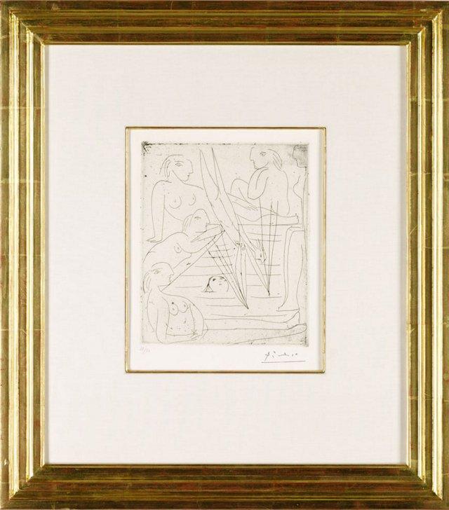 Picasso, Baigneuses A La Piscine 1932