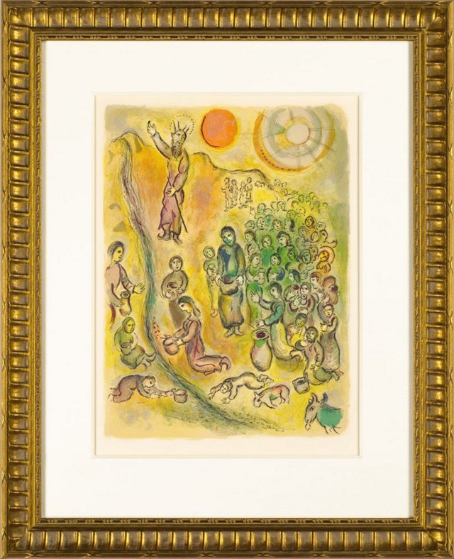 Chagall, Thou Shall Smite The Rock 1966