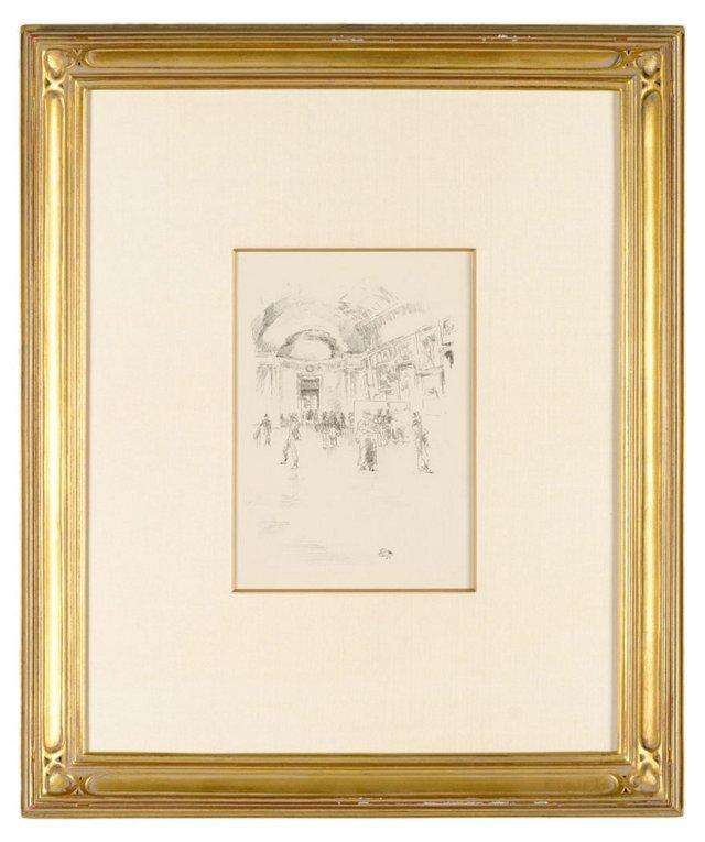 J. Whistler, Long Gallery Louvre 1894