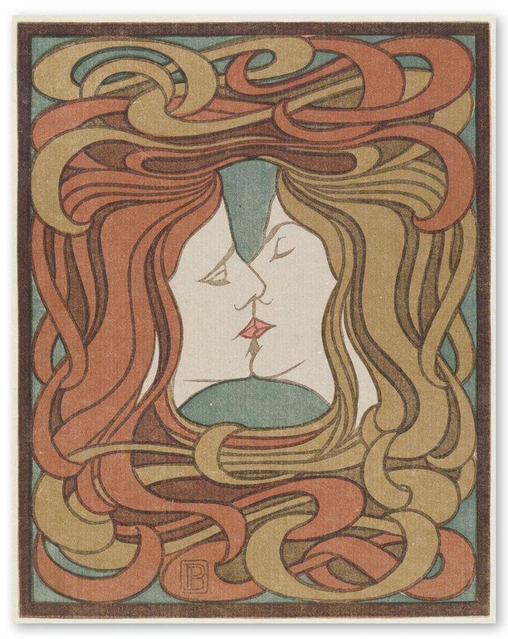 Peter Behrens, Der Kuss (The Kiss) 1898