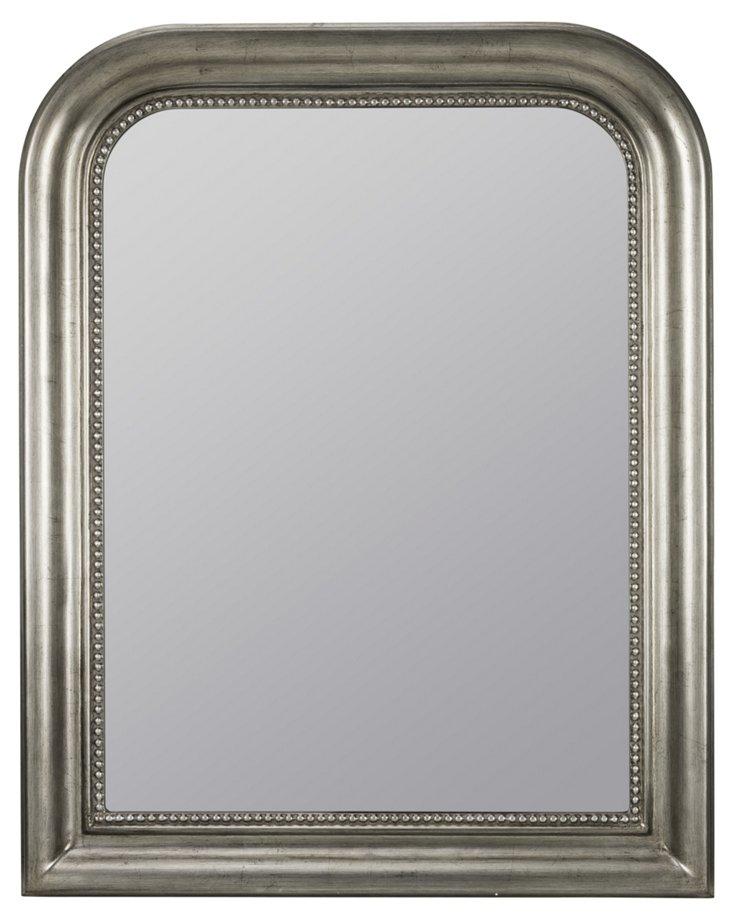 Sylvania Wall Mirror, Antiqued Silver