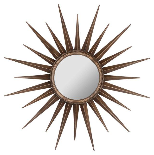 Evelyn Sunburst Wall Mirror, Bronze