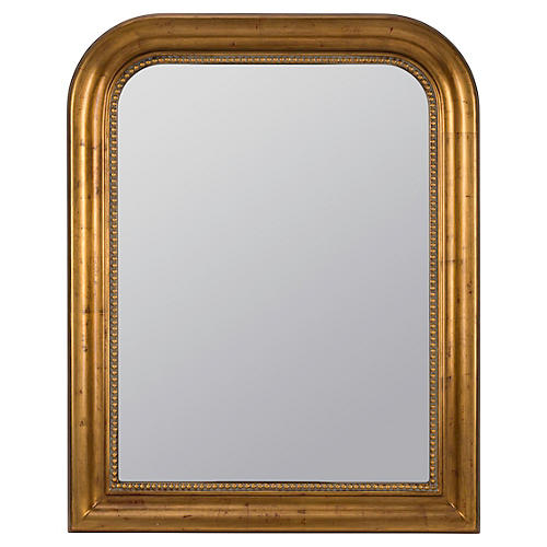 Mason Wall Mirror, Antiqued Gold
