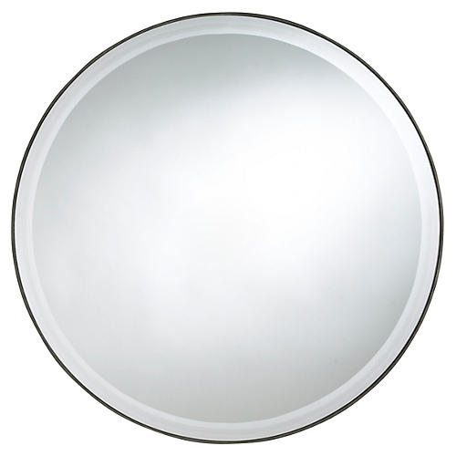 "Seymour 29"" Wall Mirror, Mocha"