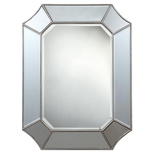 Nelson Wall Mirror, Silver