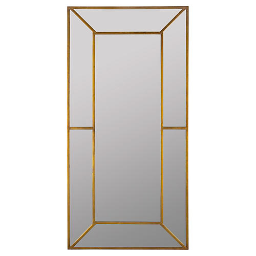"Payne 28""x56"" Wall Mirror, Antiqued Gold"
