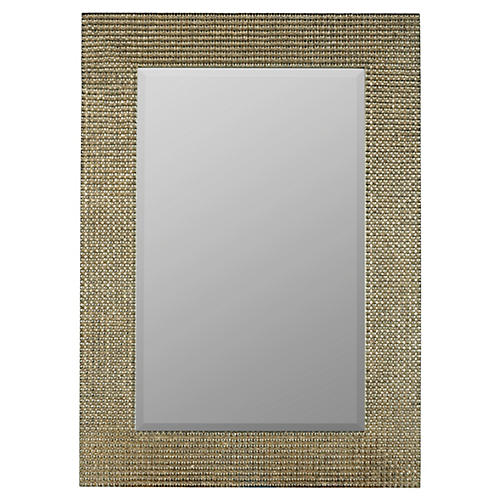 "Tymon 30""x42"" Wall Mirror, Silver"