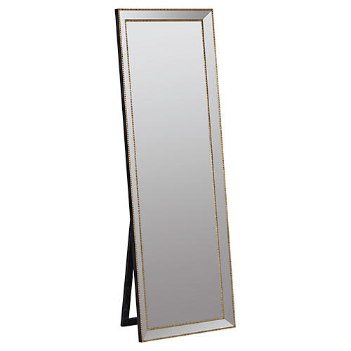 "Kyson 24""x68"" Standing Mirror, Gold"