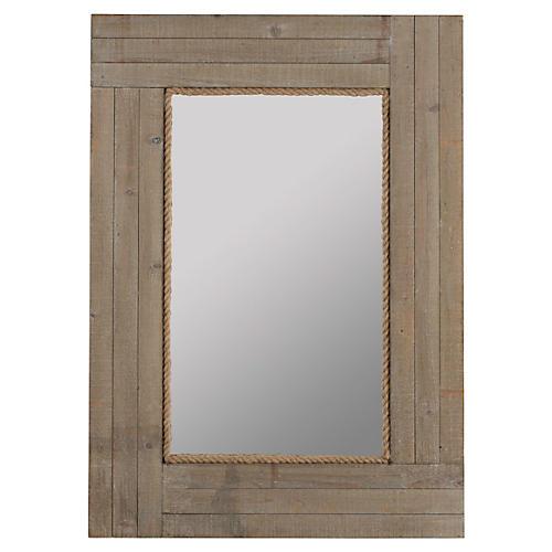 "Hatteras 30""x41"" Wall Mirror, Gray"