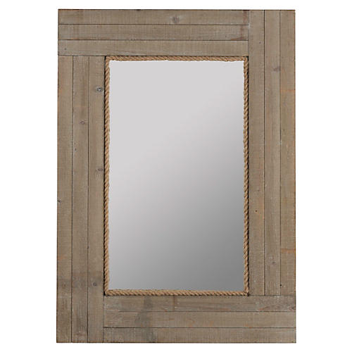 "Hatteras 30""x41"" Wall Mirror, Gray"