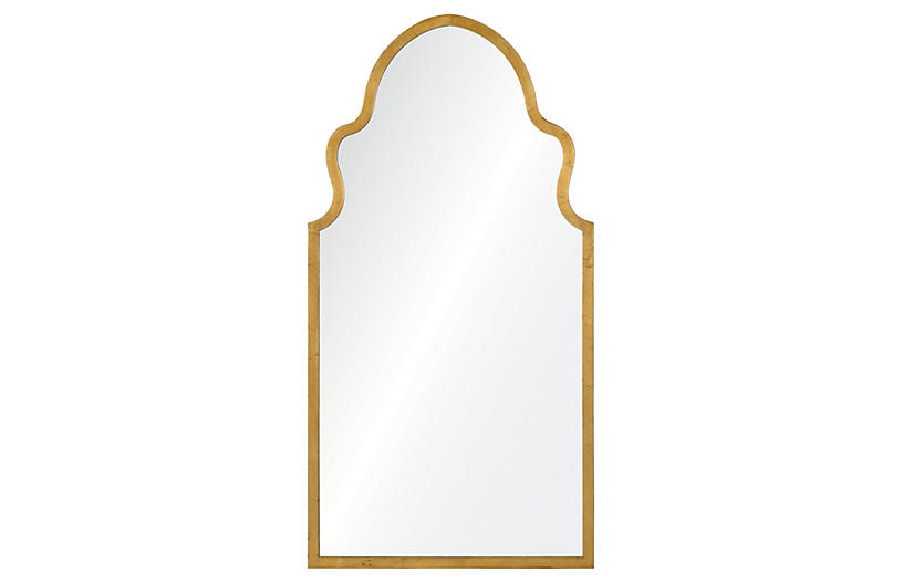 Bianca Wall Mirror, Gold by One Kings Lane