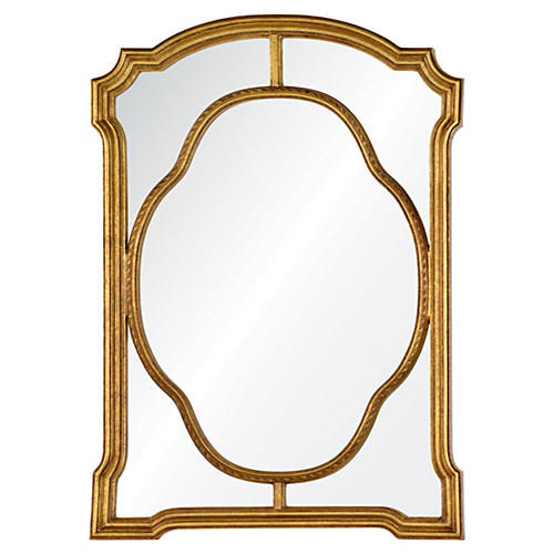 Kimberly Wall Mirror, Antiqued Gold
