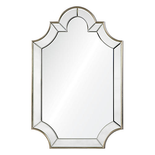 Beinville Wall Mirror, Silver