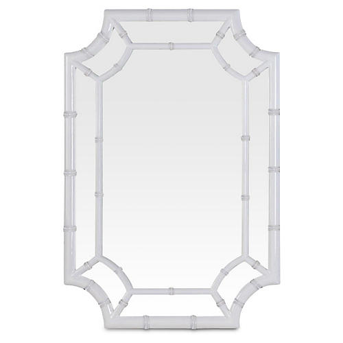 Willow Wall Mirror, White