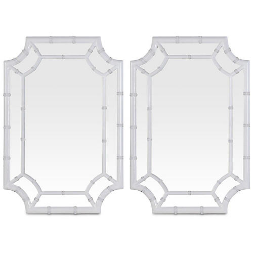 S/2 Wheaton Wall Mirror, White