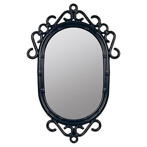 Bordeaux Wall Mirror, Navy