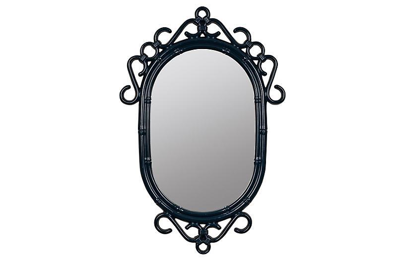Bordeaux Wall Mirror, Navy