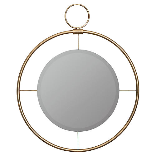 Elliott Mirror, Antiqued Gold